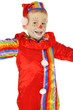 Kind als Clown verkleidet