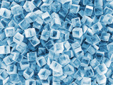 Heap of Ice Cubes Abstract Background