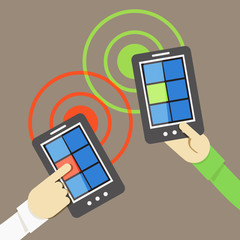 Mobile phone information transfer illustration
