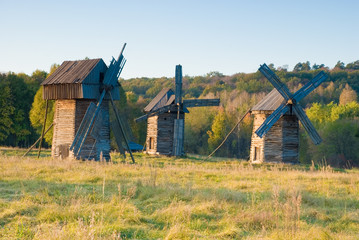 Old windmills, Pirogovo, Kiev, Ukraine