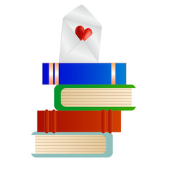 Books with Love Note