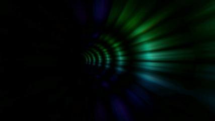 vj, multicolored tunnel. 3d, stereoscopic, anaglyph