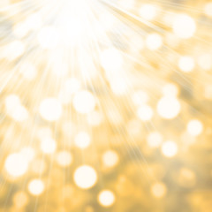 Abstract twinkled bright background with bokeh defocused Festive