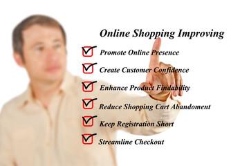 Online shopping improving