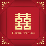 Chinese Shuang Xi  Double Happiness background