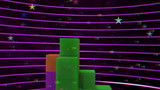 vj, tetris on a black background. 3d, stereoscopic, anaglyph.