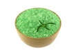Sea Salt Bath with Algae extract in a wooden bowl