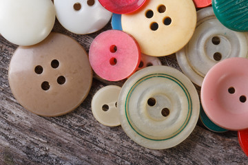 lots of colorful buttons close up