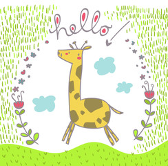 giraffa che salta