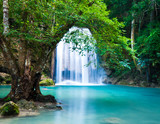 Cliff of Waterfall in deep forest