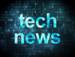 News concept: Tech News on digital background