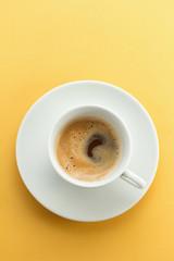Close up of freshly made espresso coffee