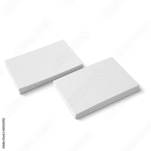 Two stack of blank business card.