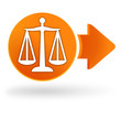 justice sur symbole web orange
