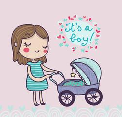 cartolina nascita bambino