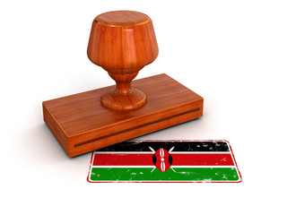 Rubber Stamp Kenya flag (clipping path included)