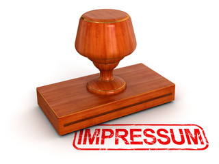 Rubber Stamp Impressum (clipping path included)