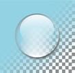 Transparent water drop vector