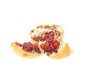 Ripe pomegranate piece