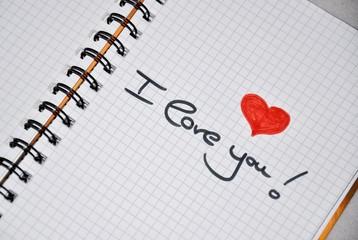 I love you...