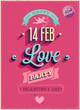 Valentine`s day Poster. Vector illustration.