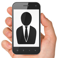 Law concept: Business Man on smartphone