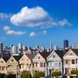 San Francisco Victorian houses in Alamo Square California