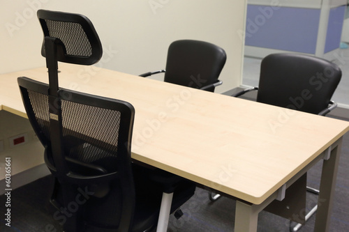 chair of manager with the wooden table