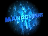 Management on Dark Digital Background.