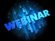 Webinar on Dark Digital Background.