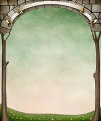 Framed stone arches