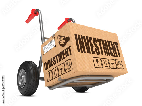 Investment - Cardboard Box on Hand Truck.