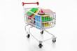 shopping trolley with books