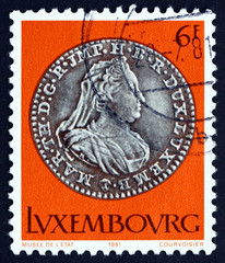 Postage stamp Luxembourg 1981 Silver Coin