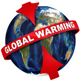 Global warming on the planet Earth
