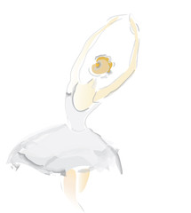 Ballerina Sketch. Ballet dance  vector