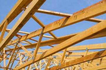 Baubranche, Holzbau-Dachkonstruktion