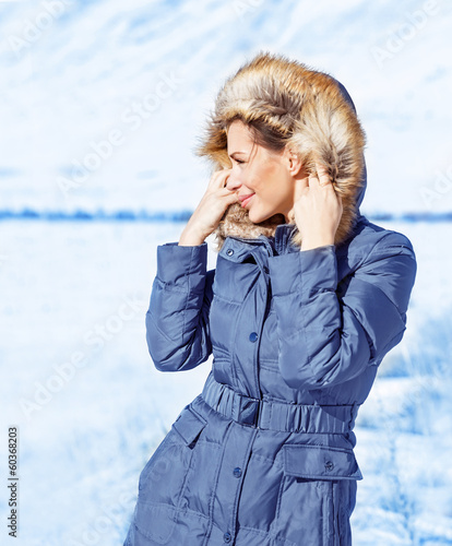 Cute girl outdoor in winter