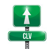 clv road sign illustration design