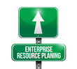 enterprise resource planning road sign illustration