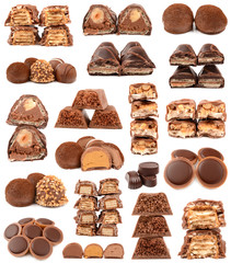 collection of chocolate