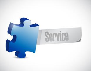 puzzle piece service message illustration design