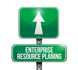 enterprise resource planning road sign illustration