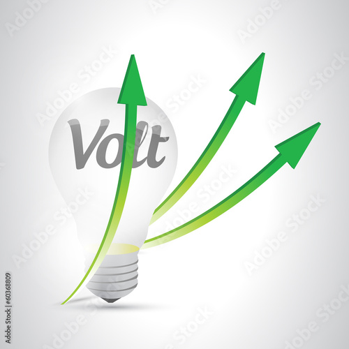 light bulb volt illustration design