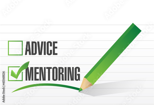 mentoring over advice illustration design