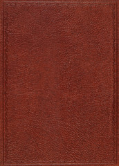 Brown leather cover