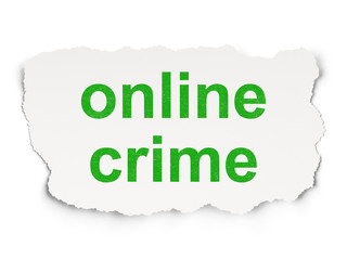 Protection concept: Online Crime on Paper background
