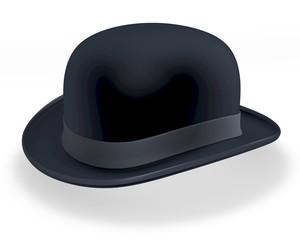 Schwarze Melone, Bowler Hat, 3D Rendering