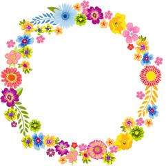 Round Spring Flower Frame
