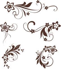 Floral Scroll Design